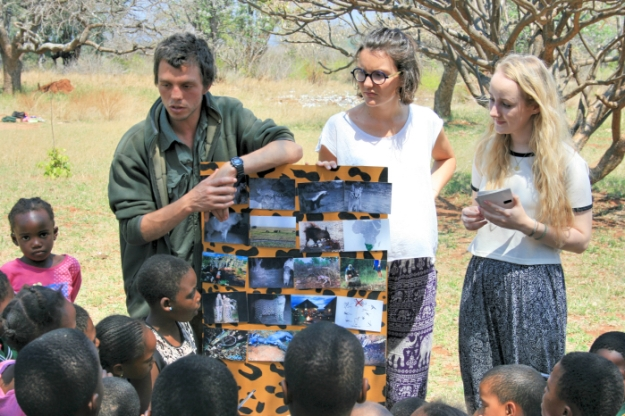 Philip teaching about environmental issues at a local school.